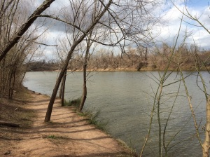 The Brazos River!  They have a golf course here as well.