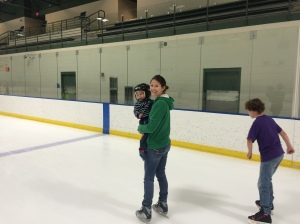 We capped the evening off with some Ice Skating! Toby starts hockey soon.
